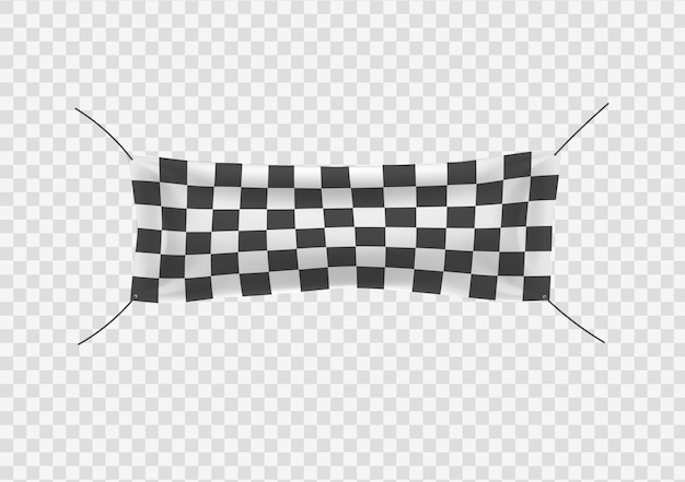Para iniciantes, banners de vinil quadriculado com dobras começando com acabamento em bandeira esportiva quadriculada