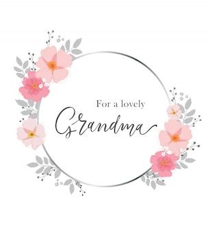 Para uma avó adorável. cartão para avó.