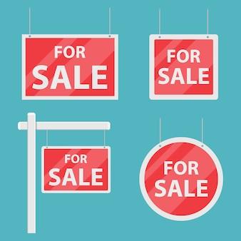 Para venda casa sinal ilustração isolada em azul