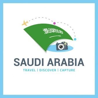 Para viajar logotipo arábia saudita
