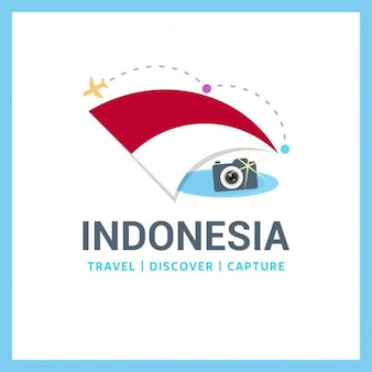 Para viajar logotipo indonésia