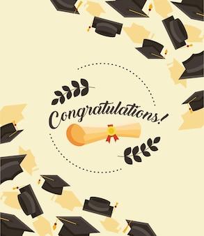 Parabéns convite para graduados