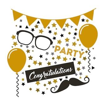 Parabéns grad cartão celebração