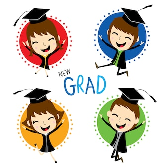 Parabéns new graduate cute cartoon