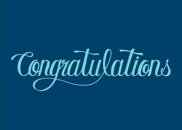 Parabéns palavra tipografia design ilustração