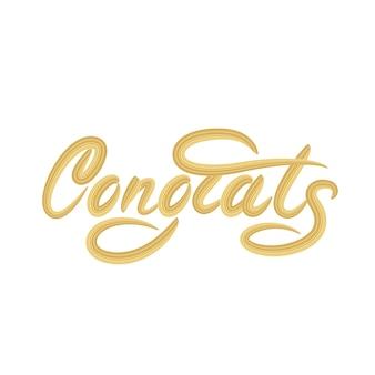 Parabéns, rotulação de design