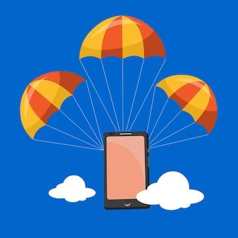 Parachute móvel