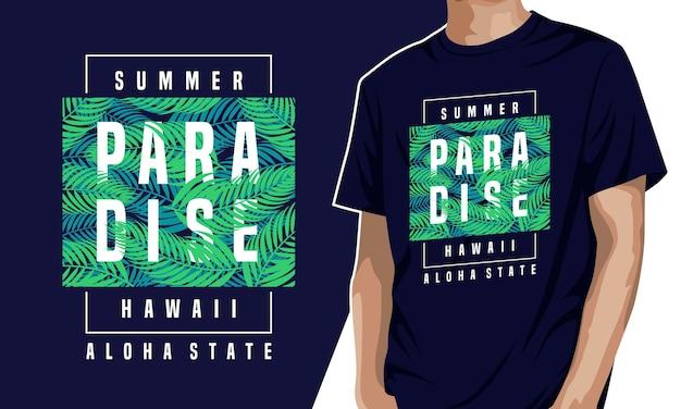 Paradise - t-shirt gráfica para impressão