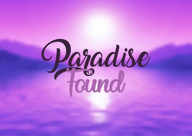 Paraíso encontrado fundo citação