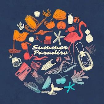 Paraíso tropical de verão
