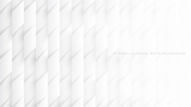 Paralelogramos 3d fundo branco simples