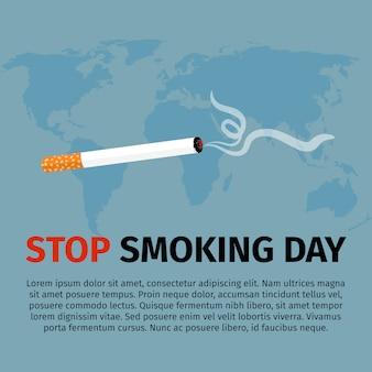 Parar de fumar cartaz do dia