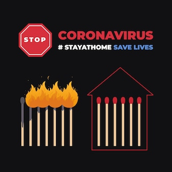 Parar o conceito de correspondências de coronavírus