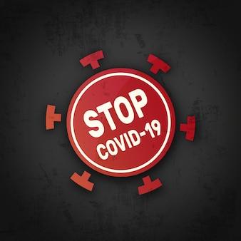 Parar o símbolo do coronavírus