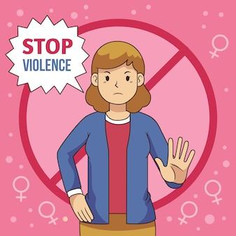 Parar o tema da violência de gênero