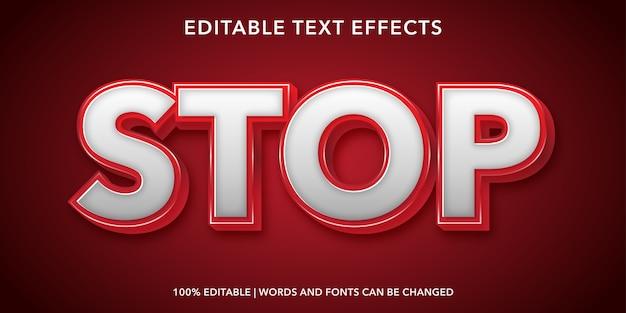 Parar texto efeito de texto editável em estilo 3d