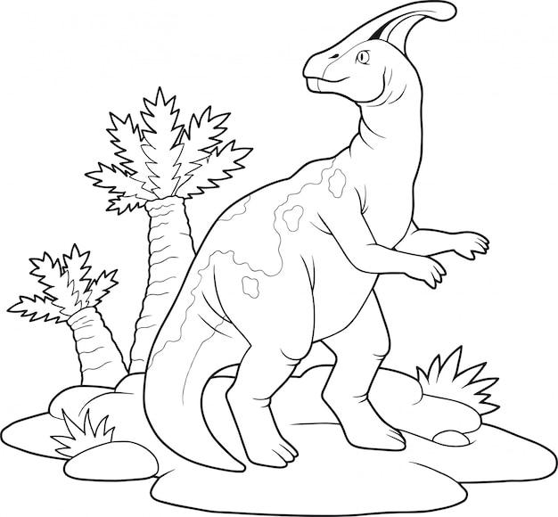 Parasaurolophus de dinossauro