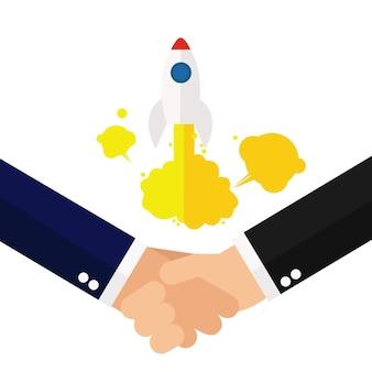 Parceiro de negócios de acordo de handshake