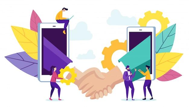 Parceiros de comunicação de novas tecnologias