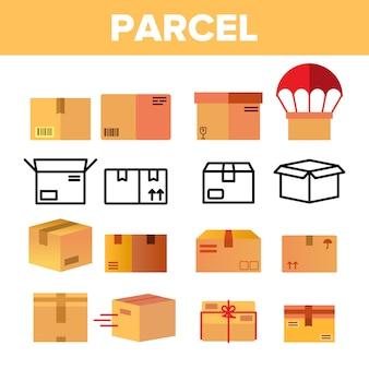Parcela, caixas de papelão