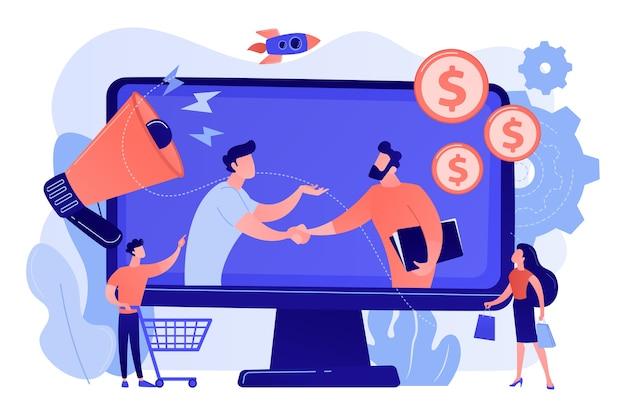 Parceria lucrativa, parceiros de negócios cowork