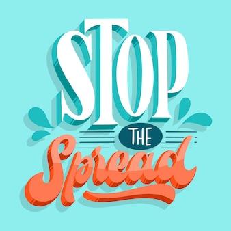 Pare a propagação de letras