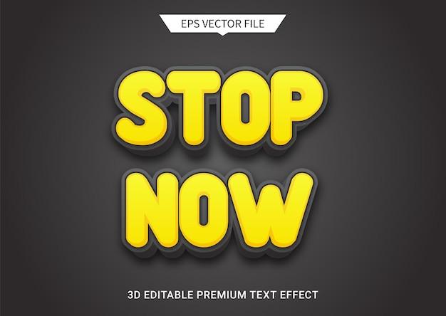 Pare agora de avisar sobre efeito de estilo de texto editável em 3d