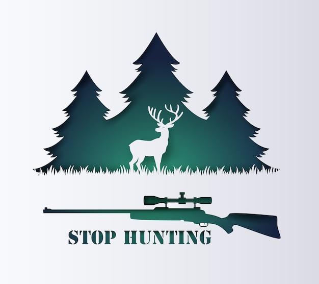 Pare de caçar animais.