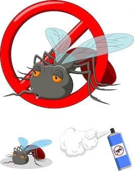 Pare de desenho animado de mosquito