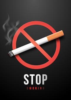 Pare de fumar cartaz.