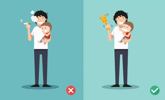 Pare de fumar com crianças