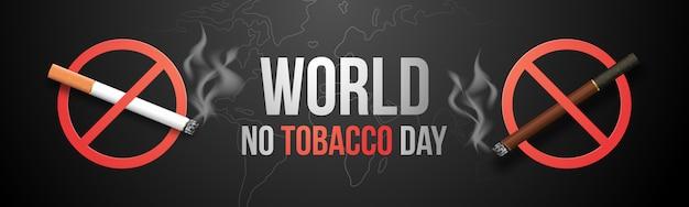 Pare de fumar o conceito, queimando cigarro no símbolo da proibição.