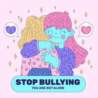 Pare de ilustração bullying