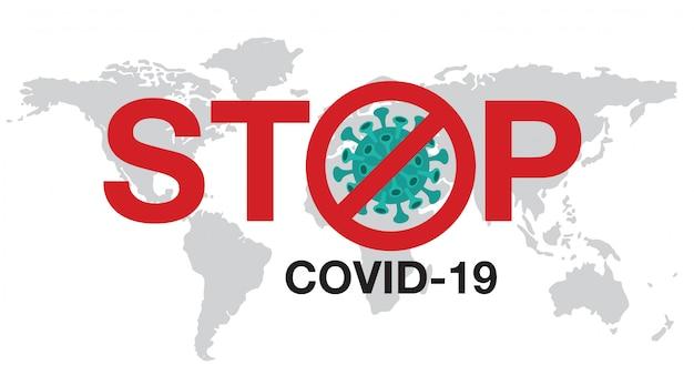 Pare de ilustração de coronavírus.