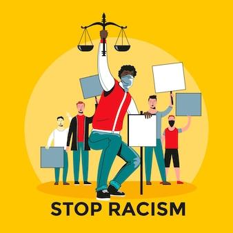 Pare de ilustração de racismo