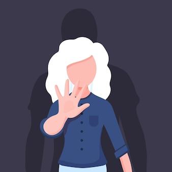 Pare de ilustração de violência de gênero
