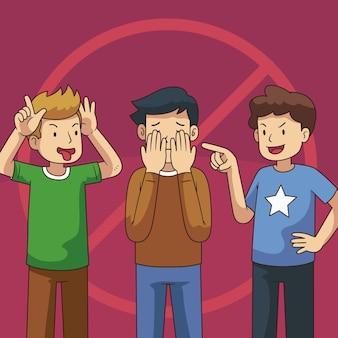 Pare de ilustração do conceito de bullying
