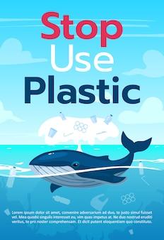 Pare de usar o modelo de folheto de plástico
