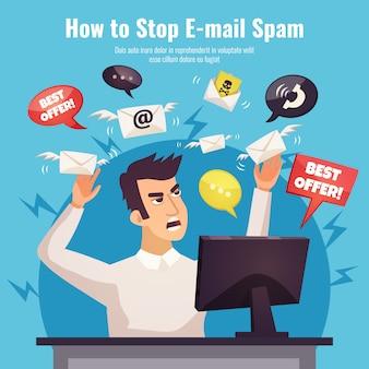 Pare o anúncio do spam pôster