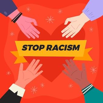 Pare o conceito de ilustração de racismo
