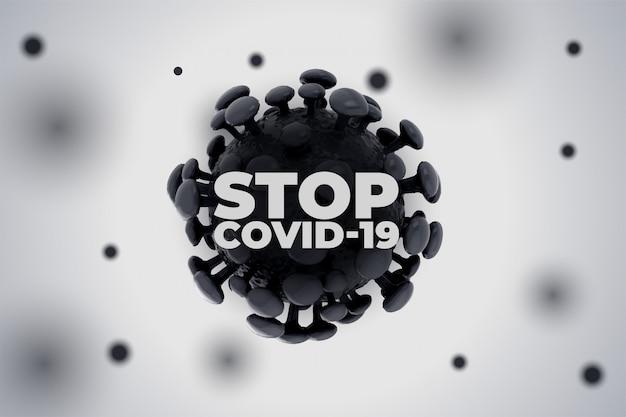 Pare o novo coronavírus covid19 de espalhar o fundo