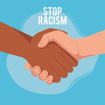 Pare o racismo, com as duas mãos dadas, o conceito de vida negra