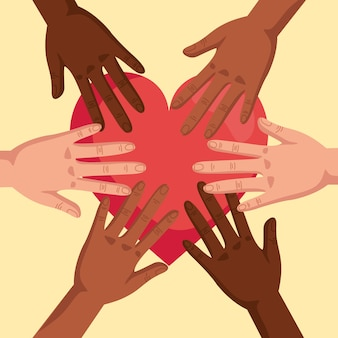 Pare o racismo, com as mãos dadas e o coração, o conceito de vida negra