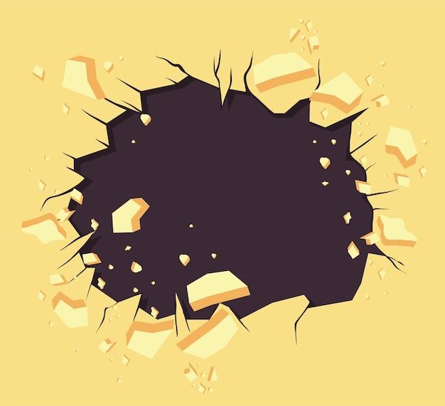 Parede amarela explosiva