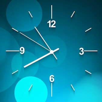 Parede azul relógio fundo Vetor grátis