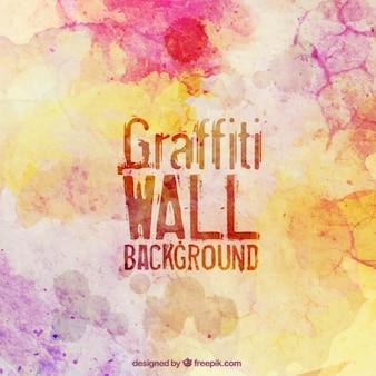 Parede de graffiti colorido