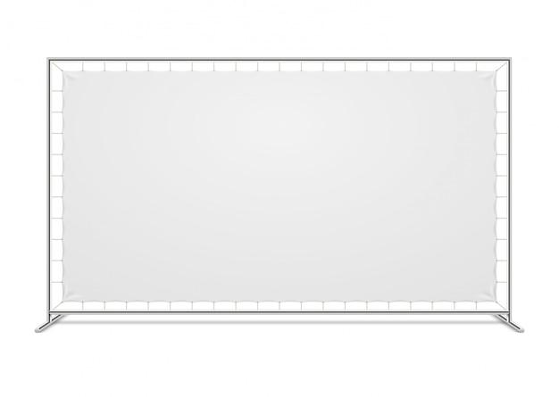 Parede de imprensa de publicidade em branco branco com modelo de vetor de tecido