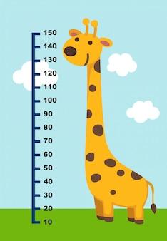Parede de medidor com girafa