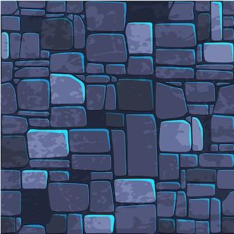 Parede de pedra azul da textura sem emenda do fundo.