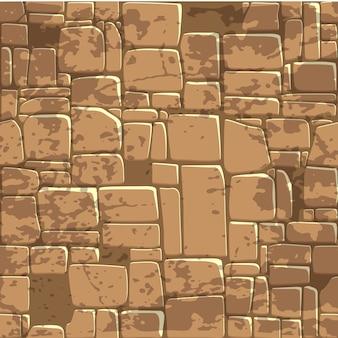 Parede de pedra sem costura marrom textura de fundo.